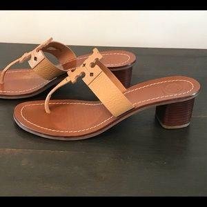 Tory Burch Shoes - Tory Burch Moore Block Heel Sandal Royal Tan 9